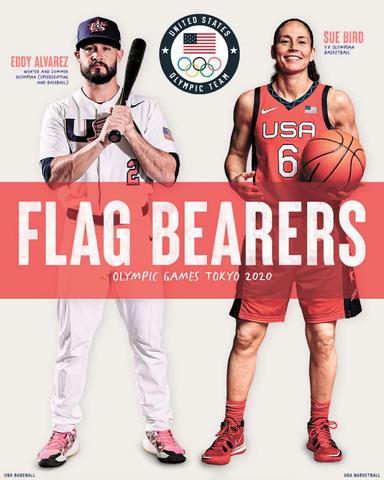 美國奧運代表團官宣東京奧運會旗手的海報圖片。網上圖片